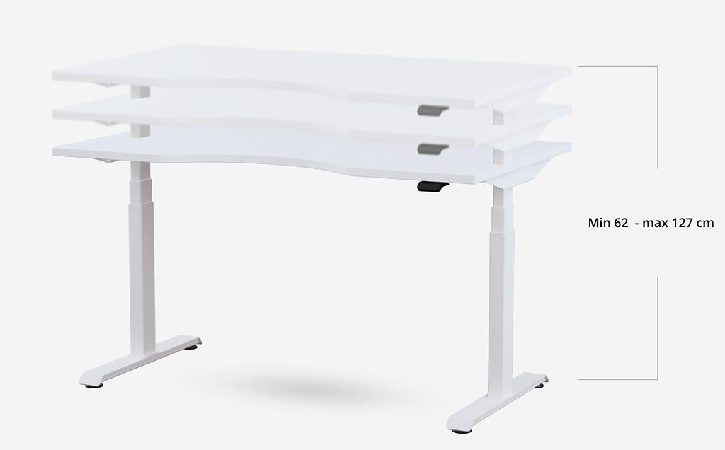 Standing desk BulDesk Pro height range