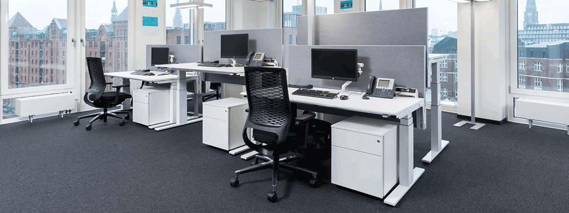 How a modern office looks like and ergonomic desksBulDesk Pro