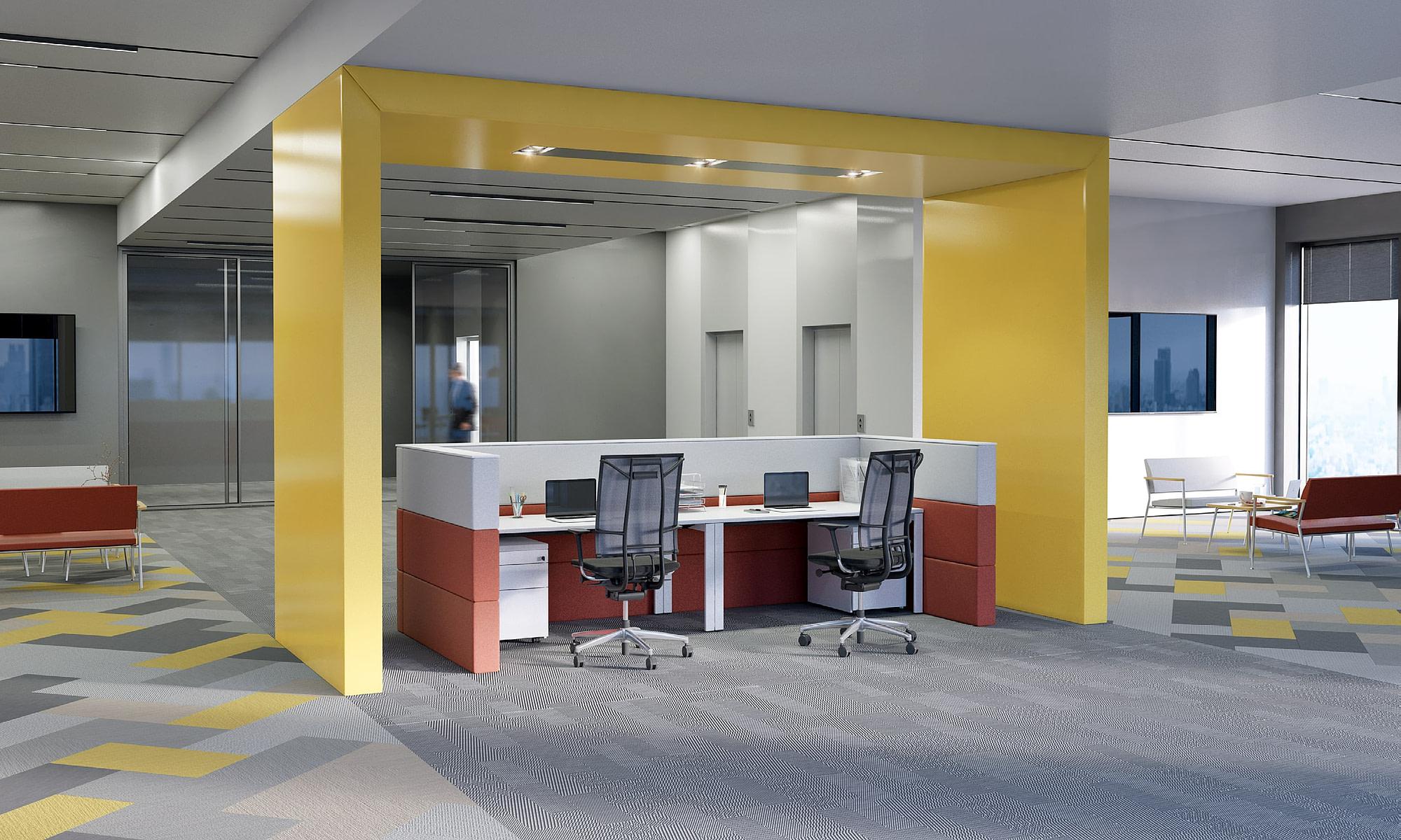 Modern office reception by BulDesk