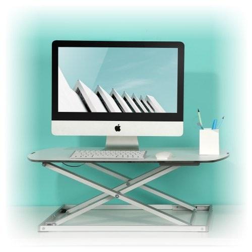 Height adjustable standing desk converter BulDesk Pro
