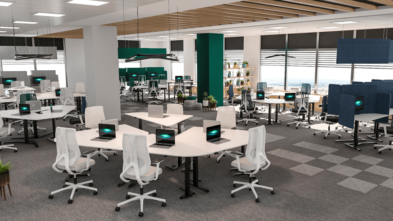 Office with standing desks BulDesk Pro